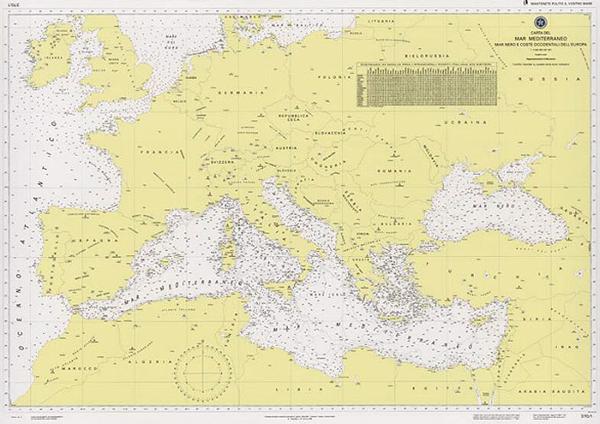 Cartina Mediterraneo Occidentale.Mare Mediterraneo Mar Nero E Coste Occidentali Dell Europa