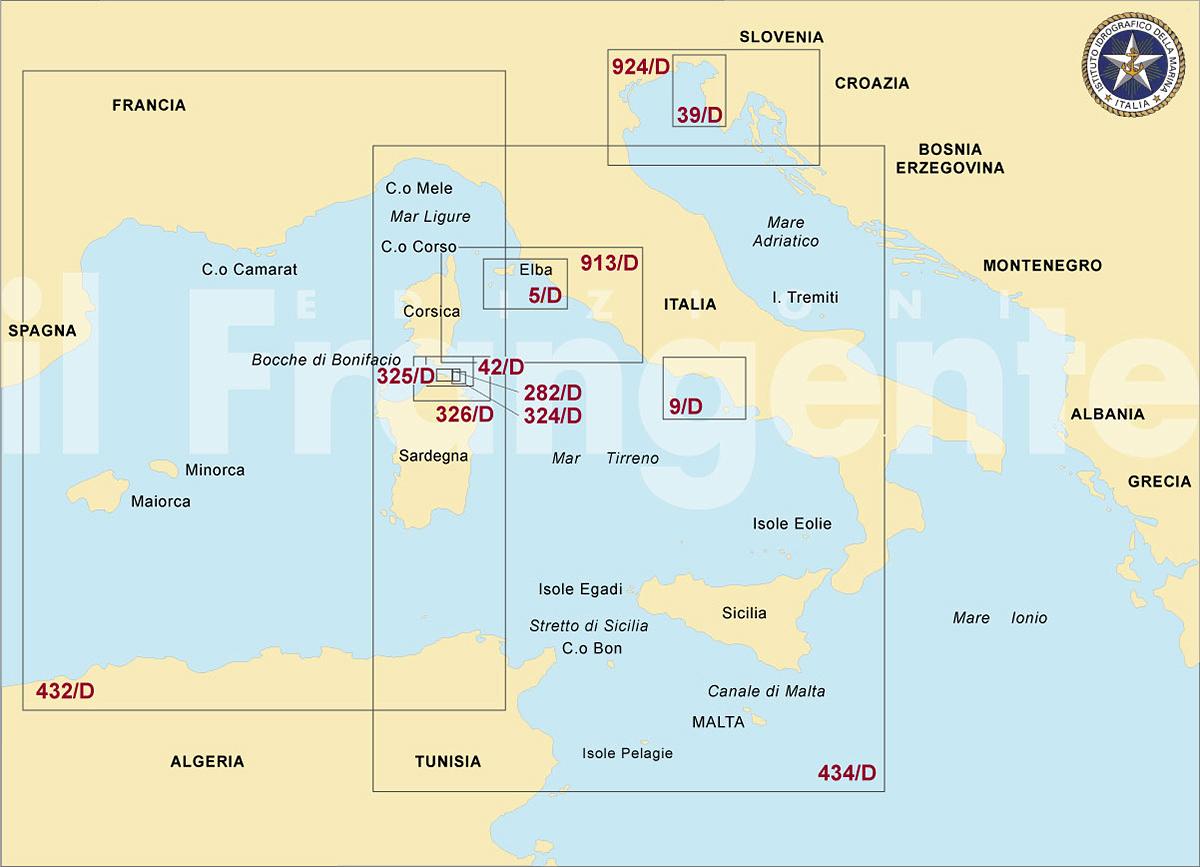 Cartina 5d.Edizioni Il Frangente Verona Italy